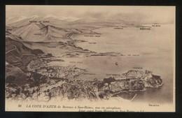 *La Cote D'Azur De Monaco à San-Remo, Vue En Aéroplane* Ed. LL. Nº 28. Nueva. - Mónaco