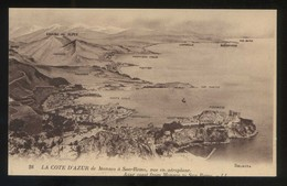 *La Cote D'Azur De Monaco à San-Remo, Vue En Aéroplane* Ed. LL. Nº 28. Nueva. - Otros