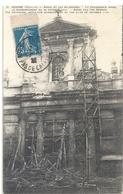 GUERRE 1914-1915 . ARRAS ET LES ALLEMANDS . LA CATHEDRALE APRES LE BOMBARDEMENT DU 30 OCT 1914 . AFFR SUR RECTO - Arras