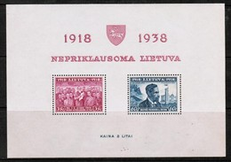 LITHUANIA  Scott # 309a** VF MINT NH Souvenir Sheet SS-354 - Lithuania