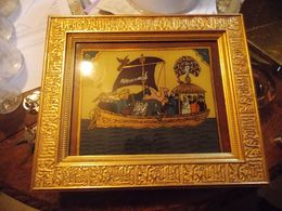 Peinture Sur Verre.l ARCHE DE NOE - Altre Collezioni