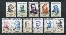 9373  FRANCE N°1132/8,1142/5 **  Célébrités étrangères 1957 Et Grands Médecins 1958  TTB - Neufs