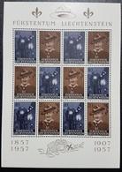 Liechtenstein 1957- Cinquantenaire Scout 1907-1957-12 Timbres - Blokken