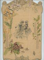 RARE .Calendrier ART NOUVEAU De 1899 LES SAISONS . Kalender . Calendar - Calendars