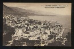 Monte-Carlo. *Vue Générale. Boulevard De L'Observatoire* Ed. Giletta Nº 805. Nueva. - Monte-Carlo