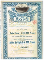 Ancienne Action - Sté Anonyme Grands Chantiers Navals De Mons - Titre De 1920 - - Navigation