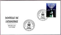 ENCAJE DE LIEDEKERKE - DENTELLE - LACE-MAKING. SPD/FDC Bruxelles 2002 - Textiles