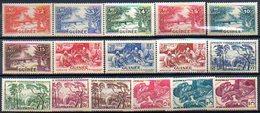 Colonies Françaises Et Protectorats (GUINEE) - 1938 - N° 125 à 144 - (Lot De 16 Valeurs Différentes) - Guinée Française (1892-1944)
