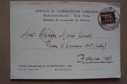 STORIA POSTALE CARTOLINA CEDOLA DI COMMISSIONE LIBRARIA DA ZARA DALMAZIA AFFRANCATA CON ISOLATO 5 CENTS IMPERIALE BELLA - Storia Postale