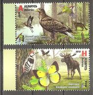 Belarus Weißrußland 2018 RCC Nature Reserves Michel No. 1241-42 Mint MNH Postfrisch Neuf ** - Belarus