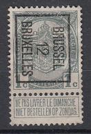 "BELGIË - PREO -1912 - Nr 21 B Type I - BRUSSEL ""12"" BRUXELLES - (*) - Precancels"