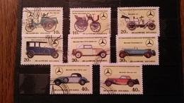 VOITURES DE LEGENDE - MERCEDES - LOT DE TIMBRES - Cars