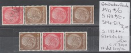 TIMBRES D ALLEMAGNE NEUF* COMPOSEES Nr   S179*/°=519+513*/°-S182**=513+519+513** COTE 20.10   € - Zusammendrucke