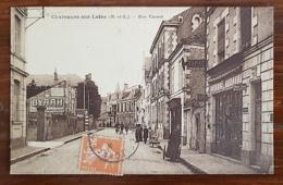 CHALONNES SUR LOIRE (49) Rue Carnot Carte Animée. Societe Generale, Ouest Eclair - Chalonnes Sur Loire