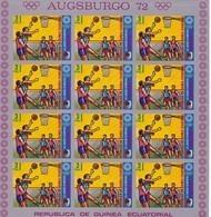 Guinea Ecuatorial Nº Michel A59 En Hoja De 12 Sellos SIN DENTAR - Äquatorial-Guinea
