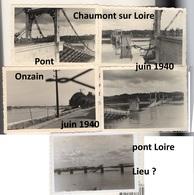 4 Photographies Originales  Allemandes Onzain Chaumont Sur Loire (41)  Occupation Guerre 1939-1945 - 1939-45