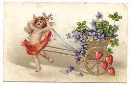 ANGE - Violettes - Carte Gaufrée - Anges