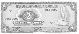 Nicaragua  P-121  2 Cordobas  1972  UNC - Nicaragua