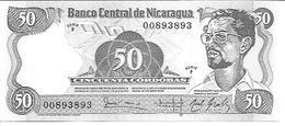 Nicaragua  P-140  50 Cordobas  1984  UNC - Nicaragua