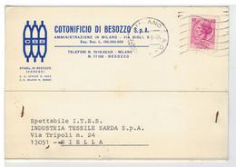 Cartolina Commerciale Cotonificio Di Besozzo - Varese