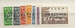 1941  MNH Ostkarelien, Postfris - Finland