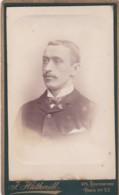 ANTIQUE CDV PHOTO. SMART MAN WITH MOUSTACHE . BERMONDSEY STUDIO - Photographs
