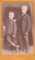 ANTIQUE CDV PHOTO.  2 YOUNG BOYS. BROTHERS ?  CARLISLE STUDIO - Photographs