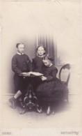 ANTIQUE CDV PHOTO -3 SMALL CHILDREN. OPEN BOOK . NORTHAMTON STUDIO - Photographs
