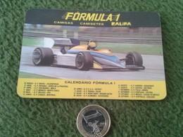 CALENDARIO DE BOLSILLO MANO PORTUGAL PORTUGUESE CALENDAR 1986 CAMISAS CALIFA FORMULA 1 COCHE CARRERA CAR AUTO VOITURE F1 - Calendarios
