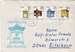 Postal History Cover: Germany / DDR  Full Sets On 2 Covers - Post