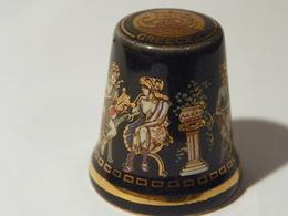 """Dé De Collection Porcelaine """"Greece"""" - Thimbles"""
