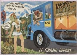 CPM - FANTAISIE HUMOUR - Thème Auto-Stoppeuse - Illustration LY - Edition As De Coeur - Humor