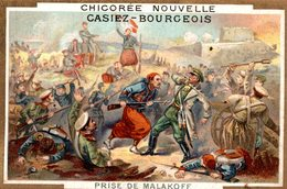 CHROMO CHICOREE NOUVELLE CASIEZ-BOURGEOIS CAMBRAI   PRISE DE MALAKOFF - Chromos