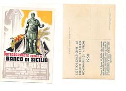 M7401 PRESTITO BANCO DI SICILIA 1950 ILLUSTRATA NON VIAGGIATA - Banche