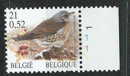 N° De Pl.1   Du N° 2987 Grive Litorne - Kramsvogel  (état: **) - 1985-.. Pájaros (Buzin)