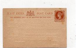 TIMBRE (27) Entier Postal India Quarter Anna : G A Charpie & Co , Bombay & Calcutta - Entiers Postaux