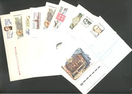 Russia 1992 Stationary Cards With Original Stamps Year Set Of 9 - 1992-.... Fédération