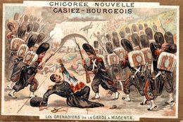 CHROMO CHICOREE NOUVELLE CASIEZ-BOURGEOIS CAMBRAI  LES GRENADIERS DE LA GARDE A MAGENTA - Chromos