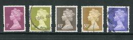 GRANDE BRETAGNE- Y&T N°1948 à 1952- Oblitérés - Usati