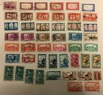 LOT DE 48 T OBLITERES ALGERIE R.F. Belles Oblitérations - Algérie (1924-1962)