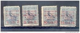 URUGUAY YVERT NRS. 340 - 343 SERIE COMPLETA COMPLETE SET AÑO 1928 INAUGURACION DEL FERROCARRIL SAN CARLOS A ROCHA - Uruguay