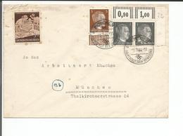 Deutsches Reich, Lettre München - München (1.7.44) - Allemagne