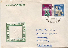 Postal History Cover: Germany / DDR Full Set On Cover - Factories & Industries