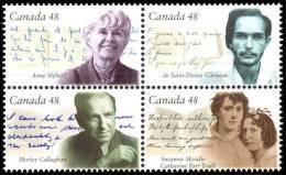 Canada (Scott No.1997a - Auteurs Canadiens / Canadian Authors) [**] - 1952-.... Règne D'Elizabeth II
