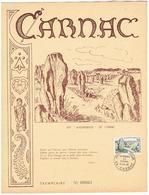 """CARNAC - Les """"Alignements"""" - 1er Jour - Archéologie"""
