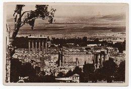 LIBAN/LEBANON - BAALBECK PANORAMA / CIRCULATED TO USA 1950 / AIR FRANCE AIR MAIL LABEL - Libano