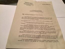 Commandement Militaire De L'Île-de-France 46e  Régiment D'infanterie For Neuf De Vincennes Paris - Documents