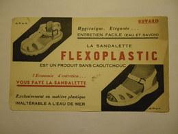 Rare Buvard La Sandalette FLEXOPLASTIC Sans Caoutchouc Inaltérable à L'eau De Mer - Zapatos
