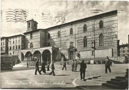 W377 Perugia - Piazza IV Novembre - Duomo Cattedrale - Bus Autobus / Viaggiata 1957 - Perugia