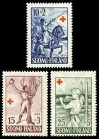 Finland, 1955, Red Cross Fund, Set, MNH, Mi# 447/49 - Finland